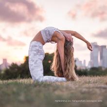 Moda digital impreso estilos de camuflaje mujeres yoga deporte polainas de fitness