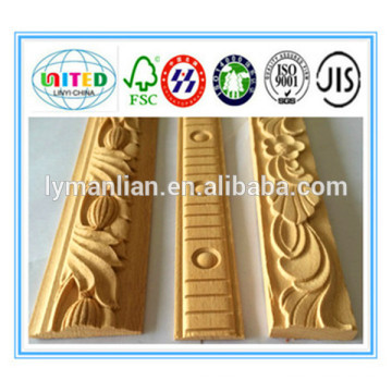 new pu teak carved wood mouldings furniture use beech wood moulding