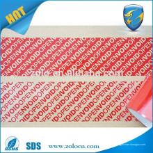 Selos de fita de segurança OPEN VOID amplamente utilizados