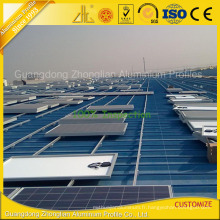 6061 cadre en aluminium de panneau solaire d'extrusion pour le rail solaire en aluminium