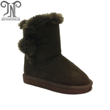 Good Quality for Kids Winter Boots Brown Cheap Boys Childrens Suede Furry Boots export to Jamaica Exporter