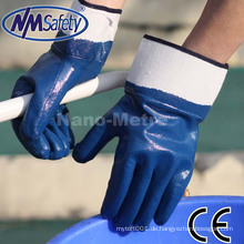 NMSAFETY industrielle Sicherheitshandschuhe blaue Nitril beschichtete Sicherheitsarbeitshandschuhe
