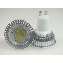 Bulbo do diodo emissor de luz do poder superior de Paypal GU10 3X1w Projector do diodo emissor de luz