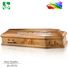 customized Italian style oak wooden carving coffin handle