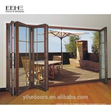 Nouveau modèle porte en aluminium pliante porte patio design patio