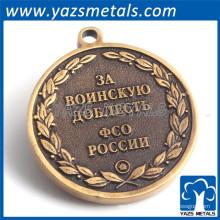 Revestimento de bronze antigo gravado para etiqueta de metal para bolsa