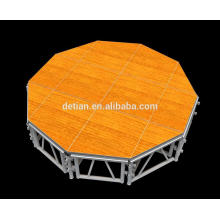 China Detian floor system wood floor outdoor stage concert stage