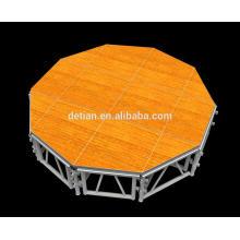 China Detian chão sistema piso de madeira palco palco de concertos ao ar livre