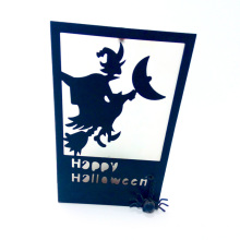 Metal Candlesticke With Witch For Halloween
