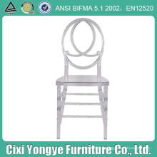 Оптовая прозрачный Смолаы пластичный стул Феникс для Королевской свадьбы