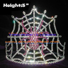 Wholesale Rhinestone Halloween Crowns with Purple Spider
