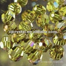 Os grânulos coloridos facetados do cristal de 8MM, grânulos de vidro para o candelabro, grânulos redondos novos do diodo emissor de luz do diy