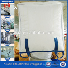 Bulk bag for PET RESIN,1 ton FIBC jumbo big bulk container pp bag,China factory supply pp fibc bag/ big bag 1000kg 90x90x120cm