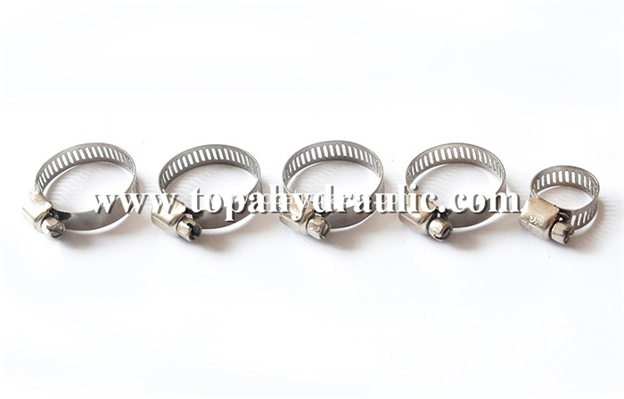 Small worm band stainless steel hose clamps