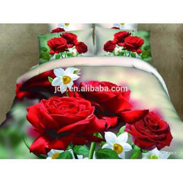 new design 3D polyester printed bed sheet sets