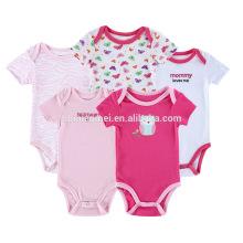 Elegante 0-12 meses niñas ropa casual mameluco de algodón infante moda harén del bebé