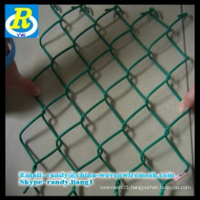 Anping Diamond Brand Galvanized / PVC Coated Chain Link Fence / Chain Link Mesh