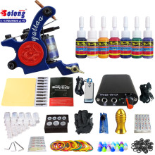 Solong TK105-69 Beginner Tattoo Kit with Tattoo Gun Power Supply Tattoo Kits With Needles