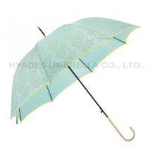 Stilvolle Auto Open Hook Handle Dome Umbrella