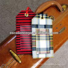 Etiqueta de equipaje de tela de alta calidad