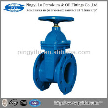Russian market non-rising stem flanged end soft sealing cast iron gate valve PN16 Z45X-16