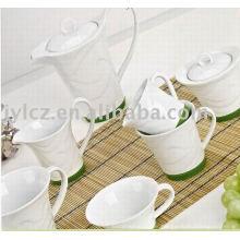 juego de té y café con base de silicona