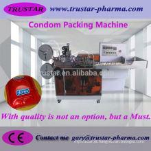Máquina de embalagem horizontal automática de alta velocidade do preservativo