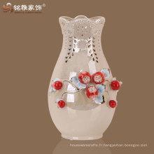 vase en porcelaine décorée d'âge moderne en couleur shampaign