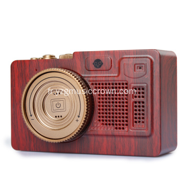 Vintage mini haut-parleur sans fil Bluetooth portable
