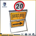 control no parking construction road sign