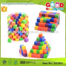 EZ1051 los 2.5cm pintaron los bloques de madera del cubo de los cabritos en 100pcs