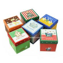 Cajas clásicas de regalo de papel de impresión de Navidad / cajas de papel de embalaje de Apple