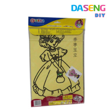 Sand art sticker card for kids