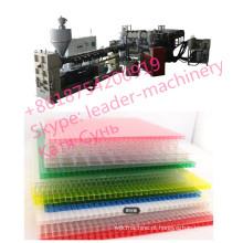 Linha oca da extrusão de folha do PC do policarbonato, folha contínua do policarbonato que faz a máquina