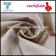 tela del satén de color caqui con elastano para pantalones/95 algodón 5 spandex tejido textil para uniformes