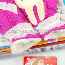 Мягкие и теплые детские кружевные перчатки