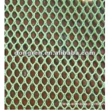 50D 100% tela de malla hexagonal de poliéster