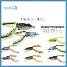 Leurre de pêche au leurre grenouille fait à la main de couleur attrayante multi
