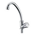 Brass Main Body Long Neck Kitchen Sink Faucet