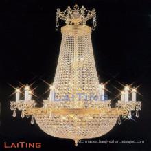 Zhongshan big chandelier light crystal for restaurants projects LT-62048