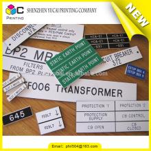Etiquetas personalizadas impermeables del panel de control