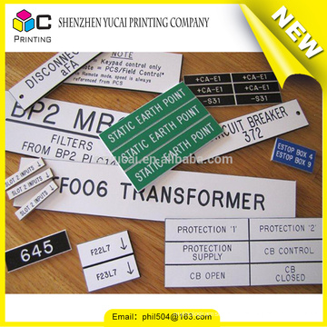 Customized waterproof control panel labels