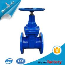 Válvula de compuerta Válvula de compuerta DIN de fundición de hierro fundido PN10 PN16 DN80