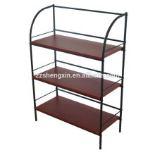 Living Room Three Tiers Metal Frame Shoe Rack for Sale