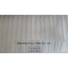 Новый популярный проект полоса Organza Voile Sheer Curtain Fabric 008273