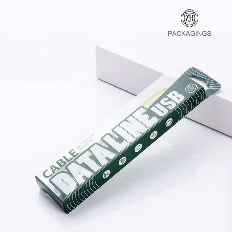 Transparent PVC USB cable box package