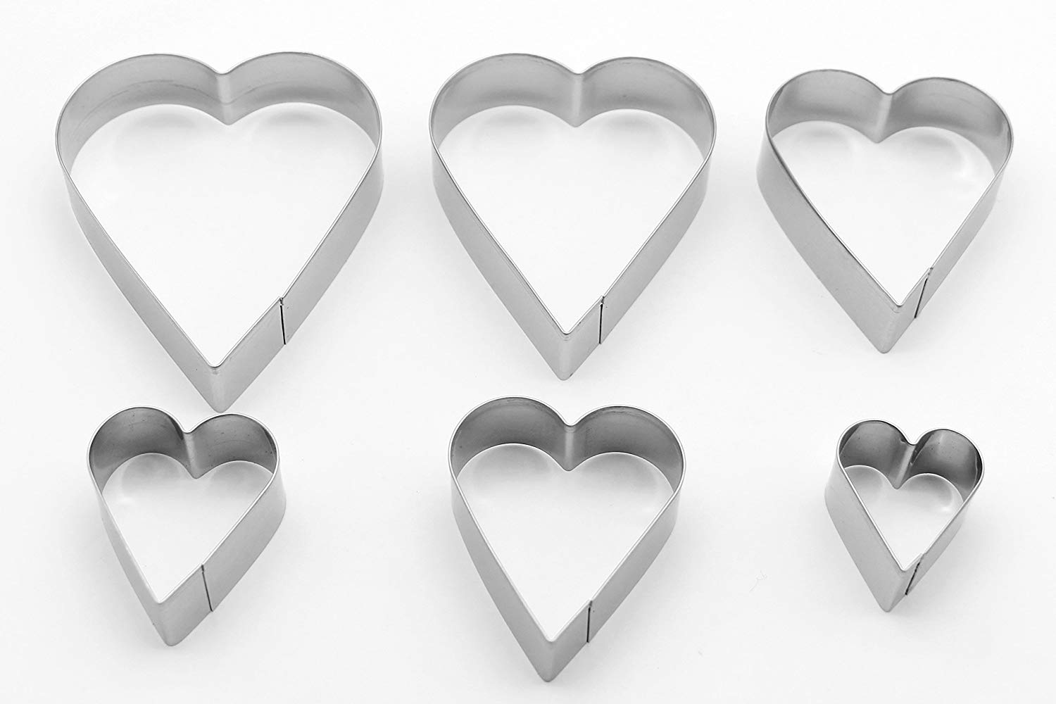 6pcs Stainless Steel Heart Cookie Cutter set