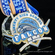 Venta al por mayor suave esmalte deporte reunión metales premio medalla