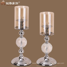 single one head european style Iron Candle Holder with glass cover