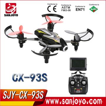Cheerson CX-93S Drone avec Caméra 2MP HD 5.8GHz FPV Transmettre en temps réel RC Hélicoptère 2.4G 4CH 6 Axes Haute Vitesse RTF Quadcopters